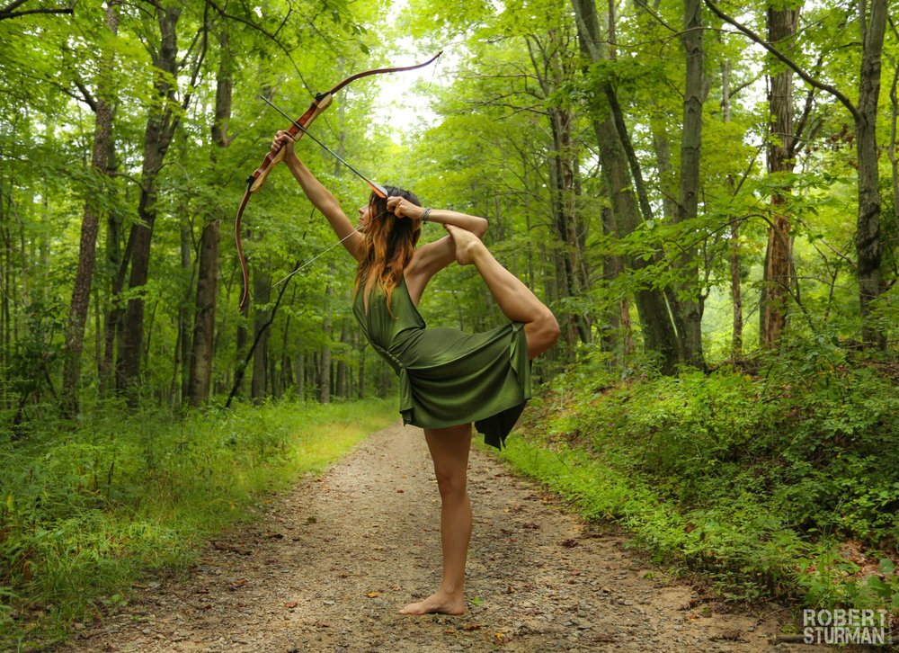 Liz Corwin outdoor yoga