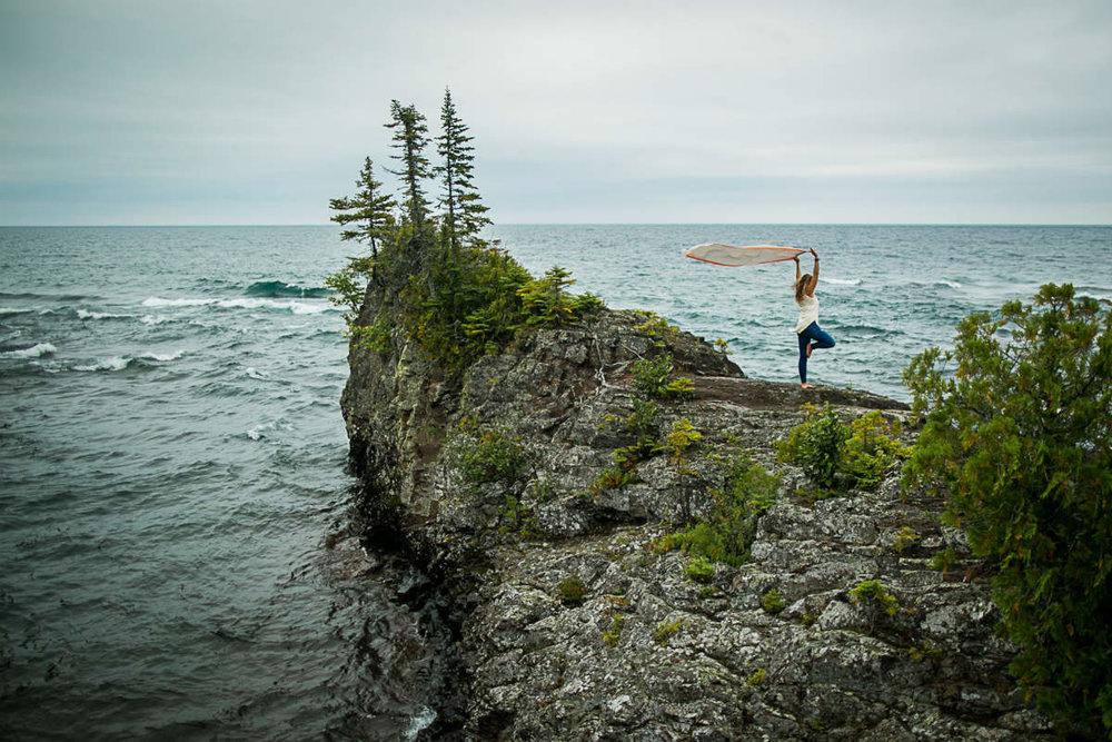 Amie Heeter yoga retreat near Lake Superior