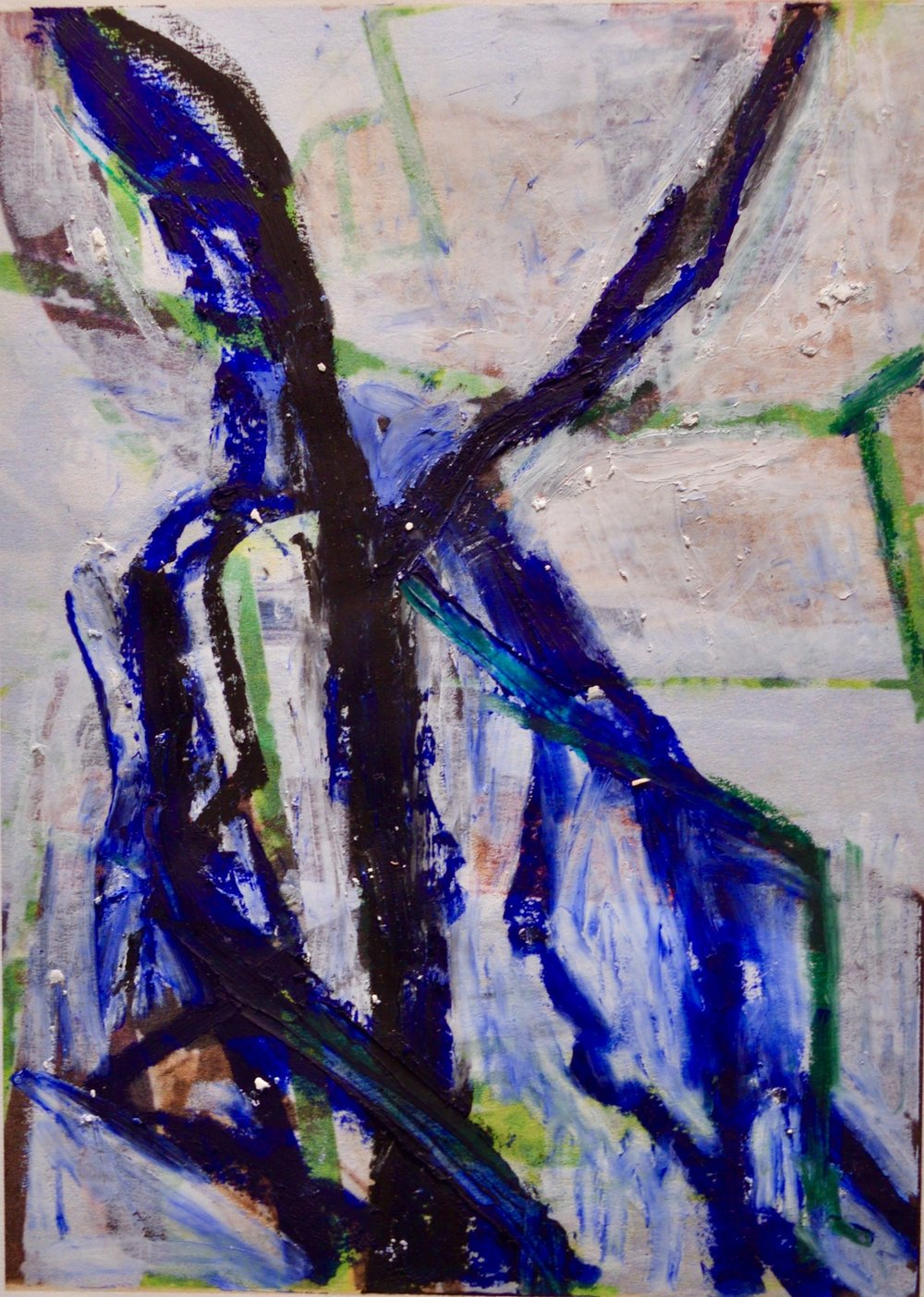 "Trees & Vines 1  Oil Pastel On Paper 14"" x 12"""