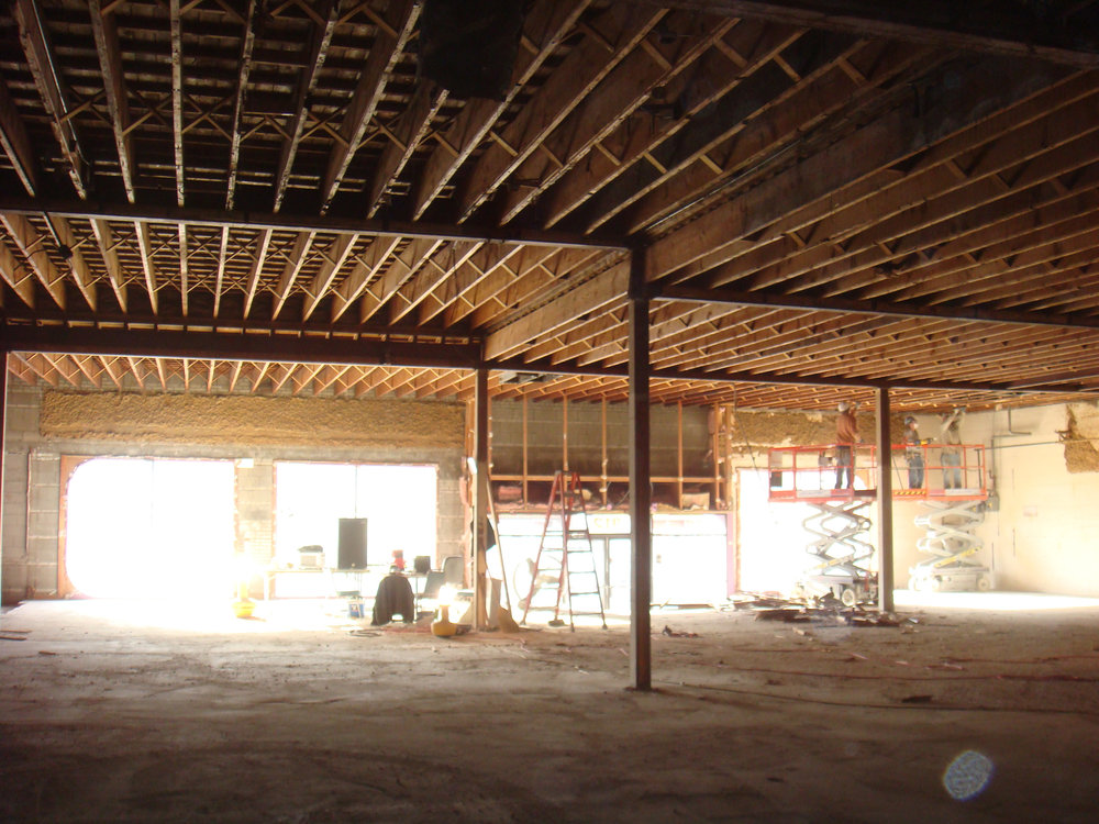 Interior of 912 West Lake location after demolition