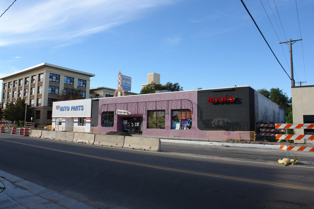 Pre-construction facade of 912 West Lake location (current location)