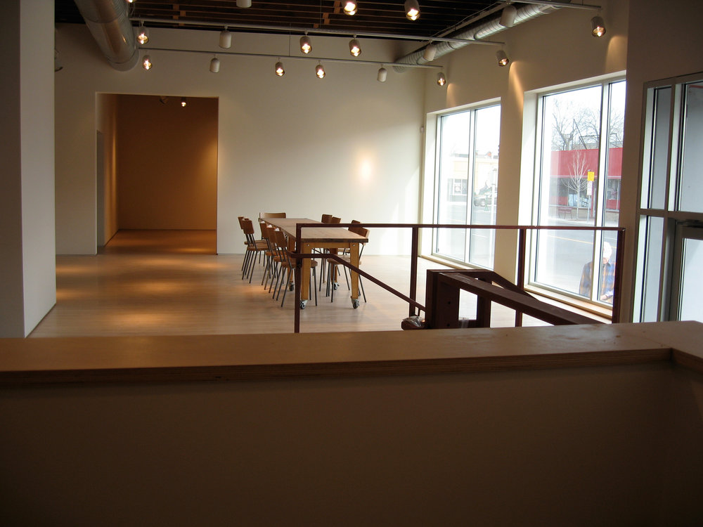 Completed construction of gallery
