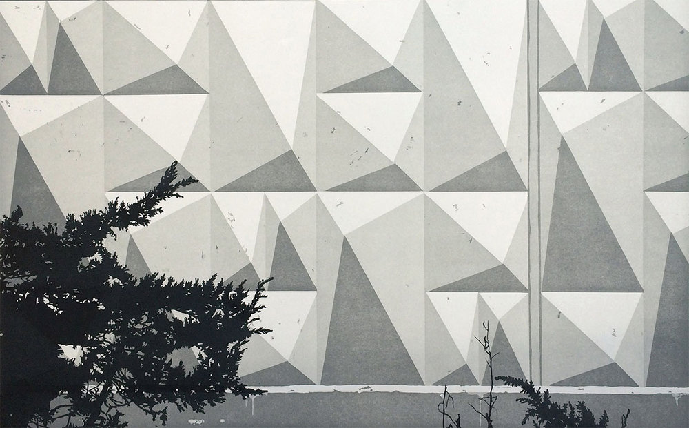 Above: Claas Gutsche, Concrete , linocut, 2015