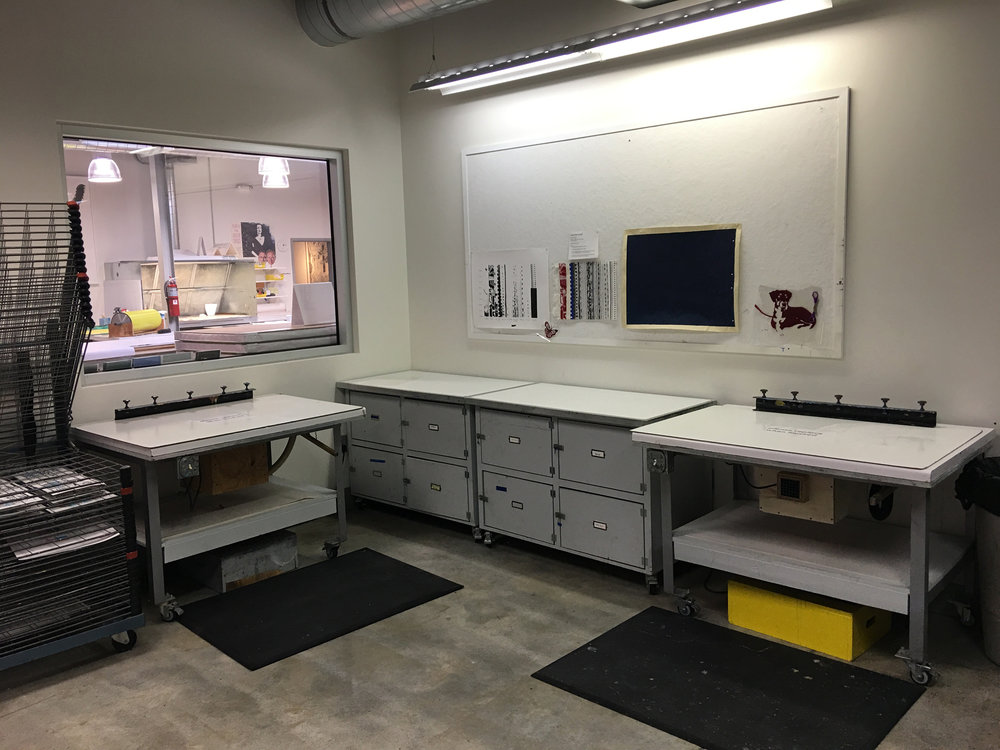 Screenprinting area