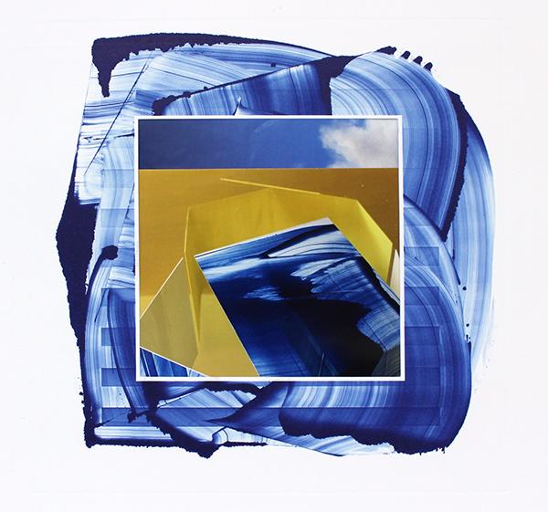 nine-tenths,  monoprint, inkjet, found image