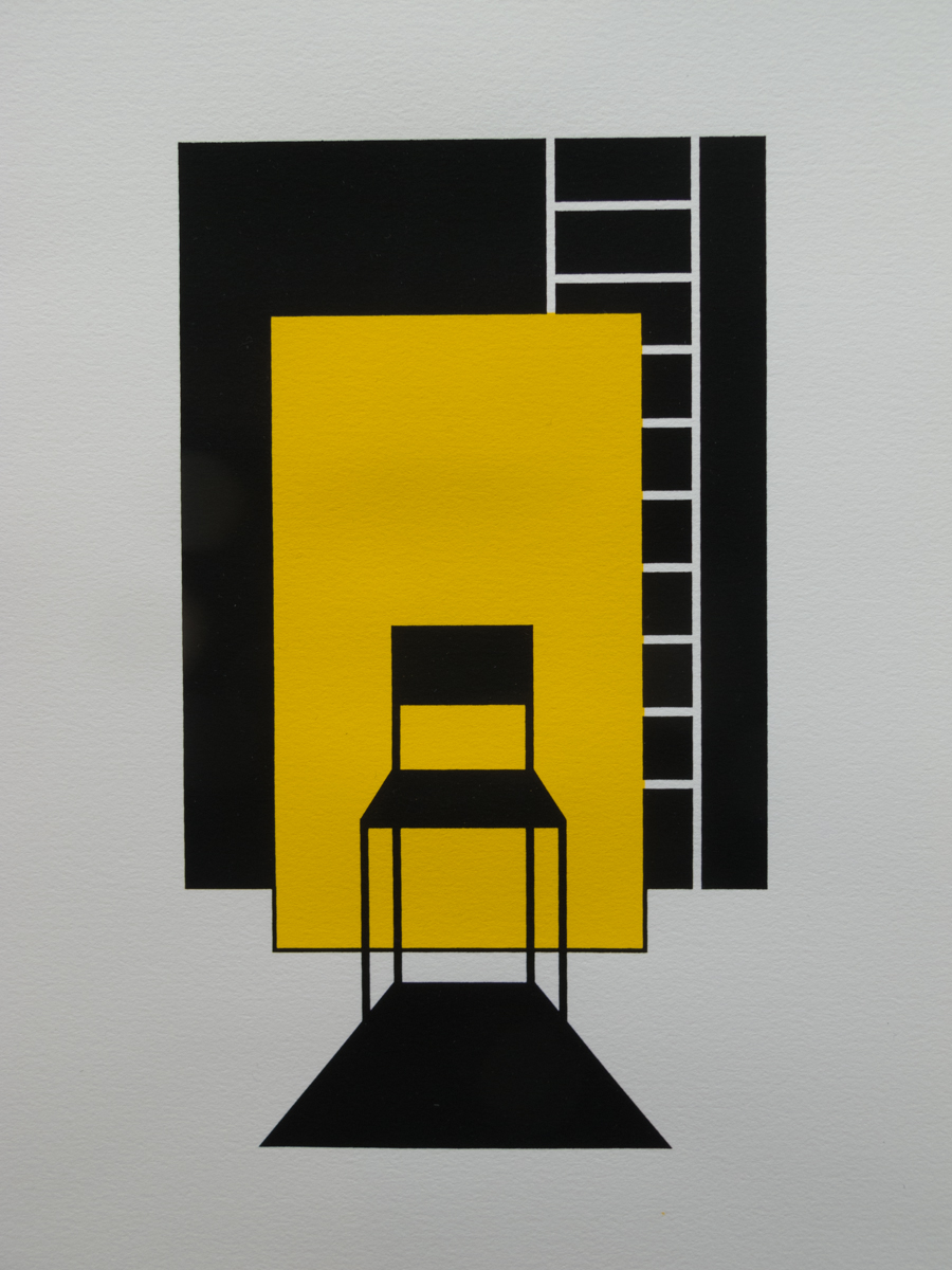 Nancy Bolan   Stay or go?   Screenprint
