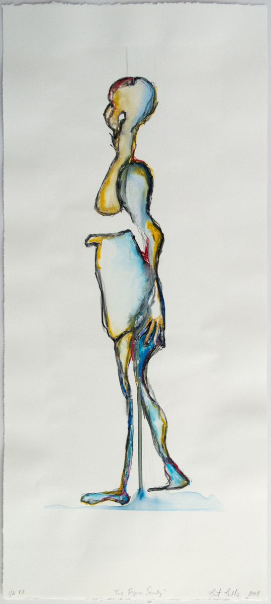Christine Cosentino   Tall Figure Study   Screenprint monotype