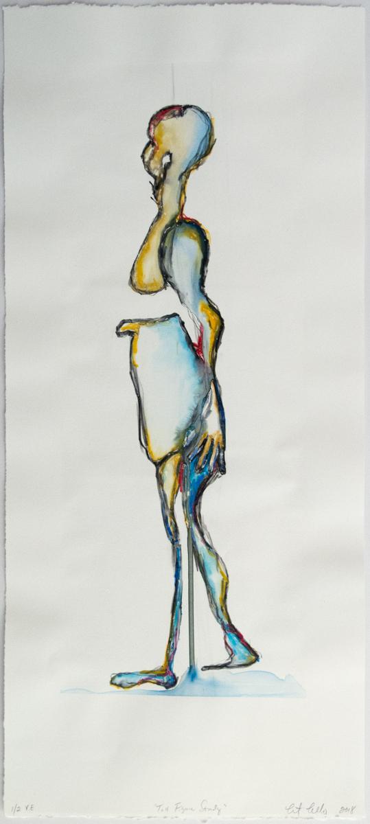 Christine Cosentino   Tall Figure Study   Screenprint monotype