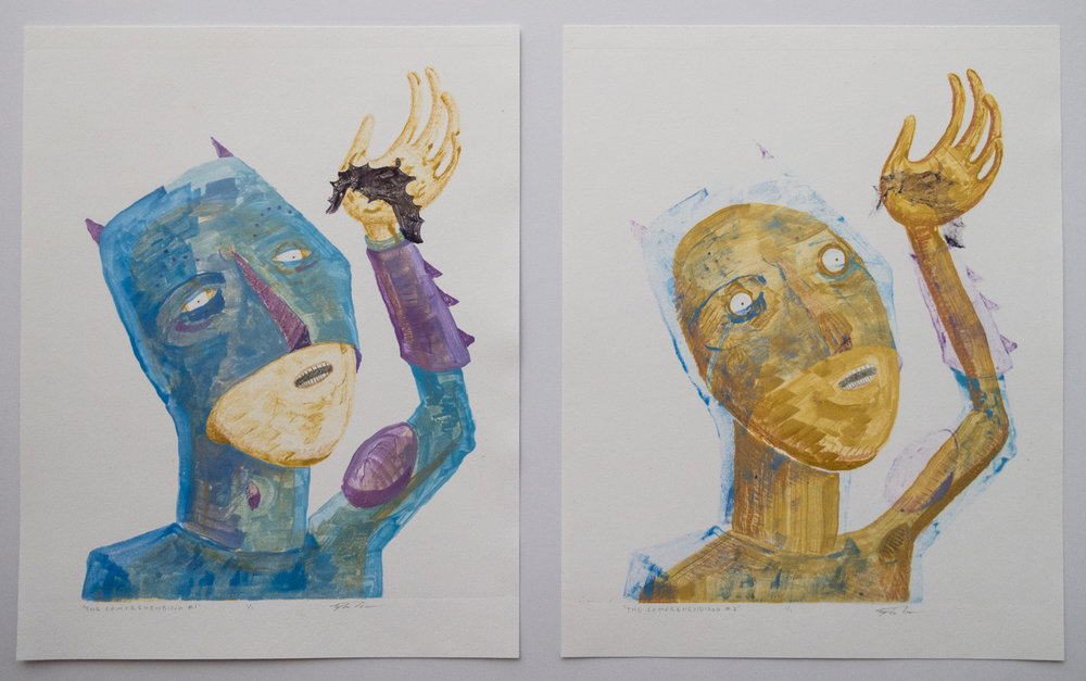 Tyler Green   The Comprehending 1 and 2   Monotype