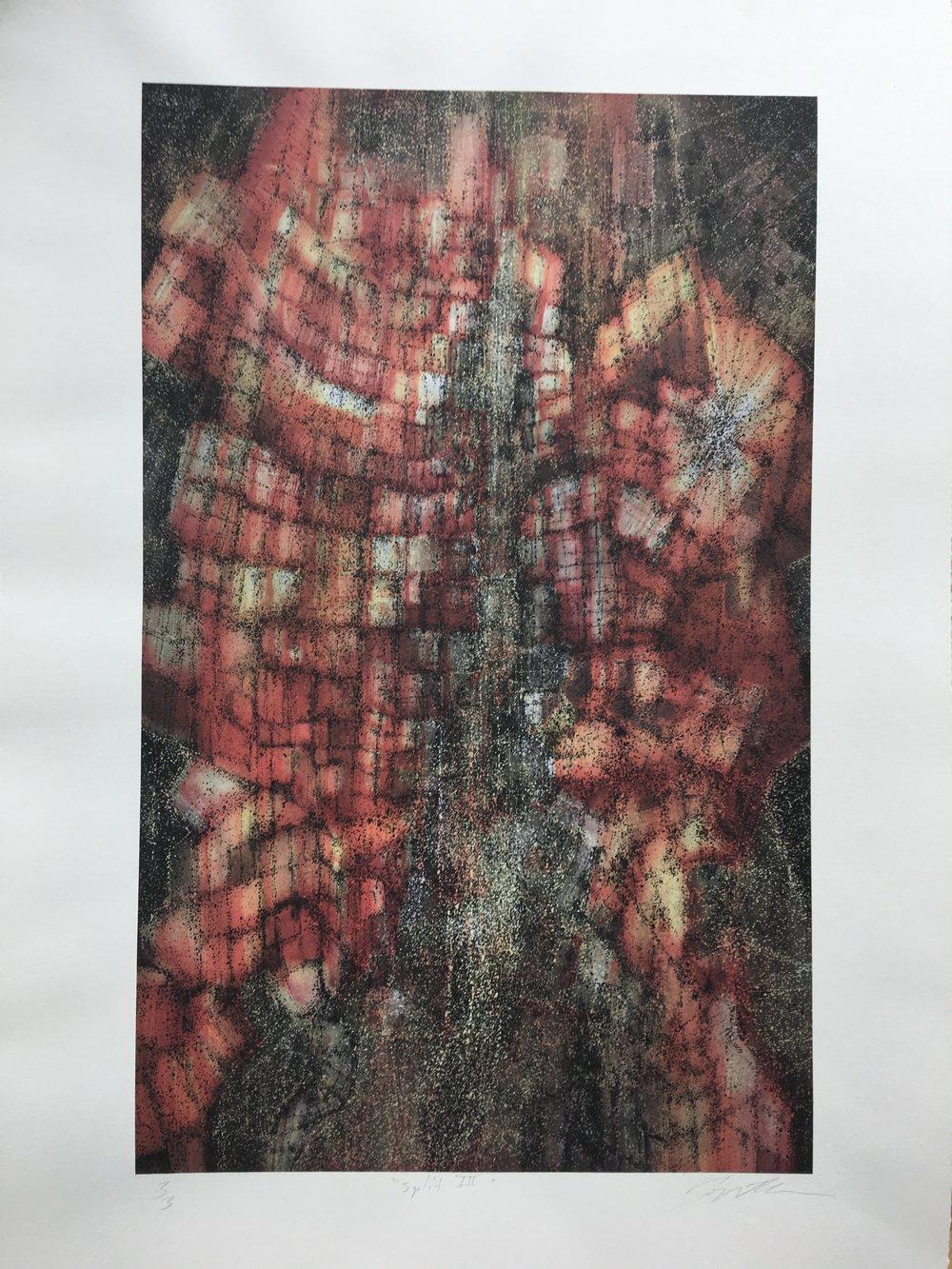 Jon Mahnke   Split III   Polymergravure and archival inkjet