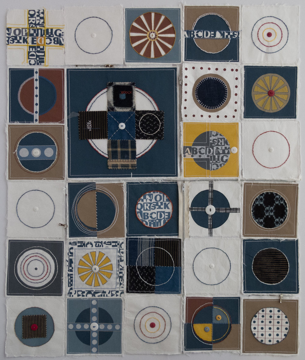 Regina S. Levin   Paper Quilt, Version One   Screenprint with collage and mixed media
