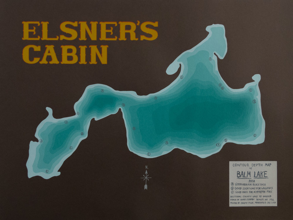 Jeremy Piller   Elsner's Cabin   Screenprint