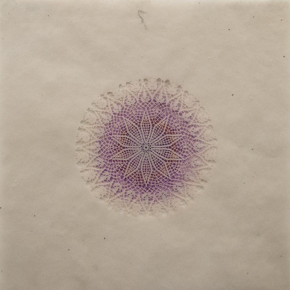 Amy Sands   Constellation III   Monotype with screenprint and lasercut