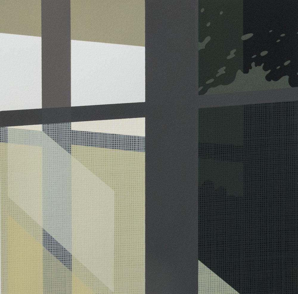Cathy Spengler   porch light   Screenprint