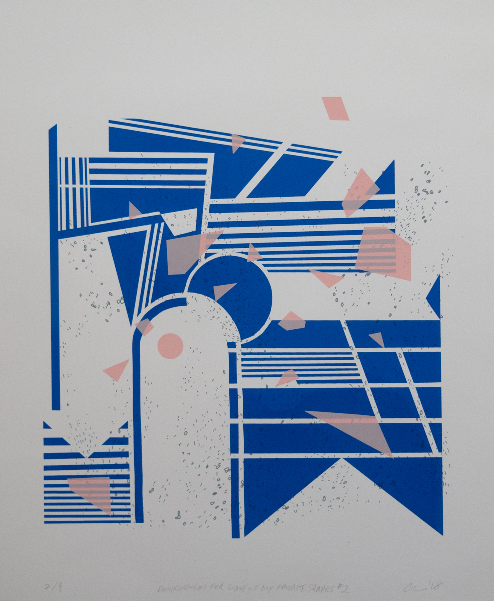 Anda Tanaka   Environment For Some of My Favorite Shapes #2   Screenprint