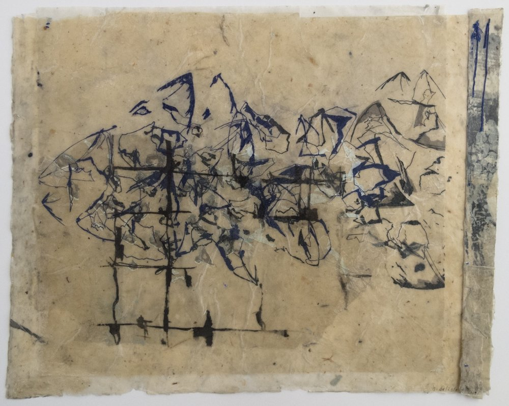 Heather DeLisle   Shards   Screenprint on waxed paper