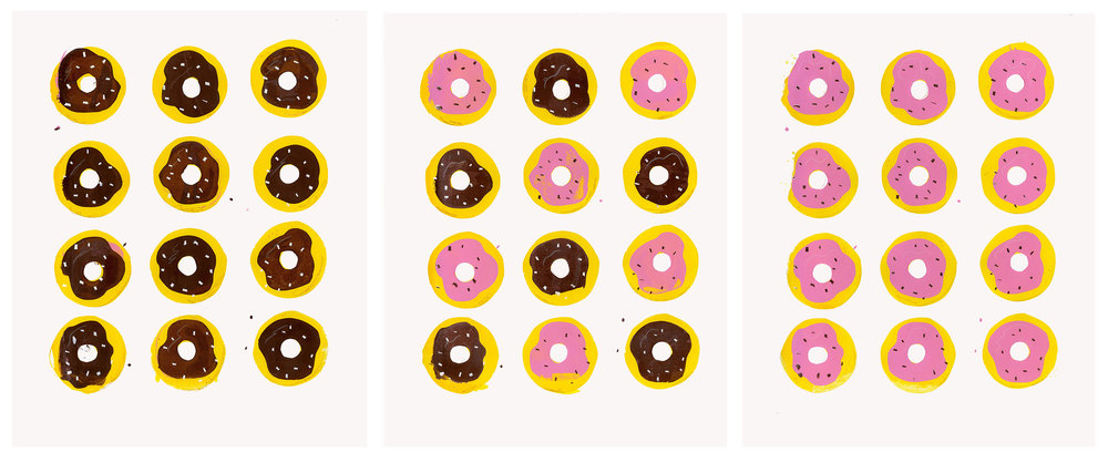 Sarah Evenson,  Donuts , screenprint
