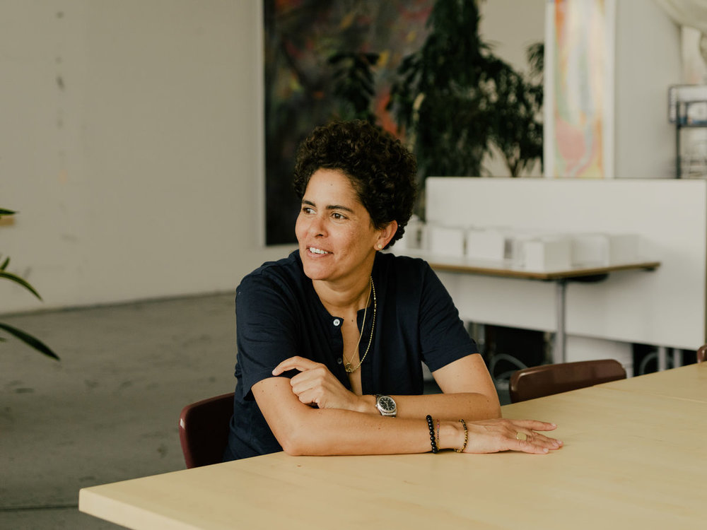 Portrait of Julie Mehretu by Daniel Dorsa for Artsy.