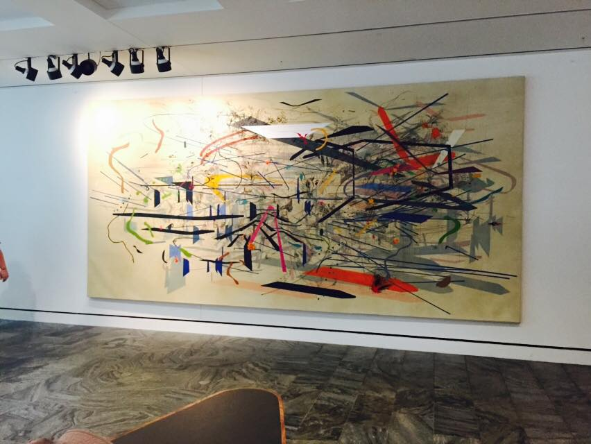 "Julie Mehretu, b. 1970 / ""Retopistics: A Renegade Excavation,"" 2001 / Ink and acrylic on canvas"