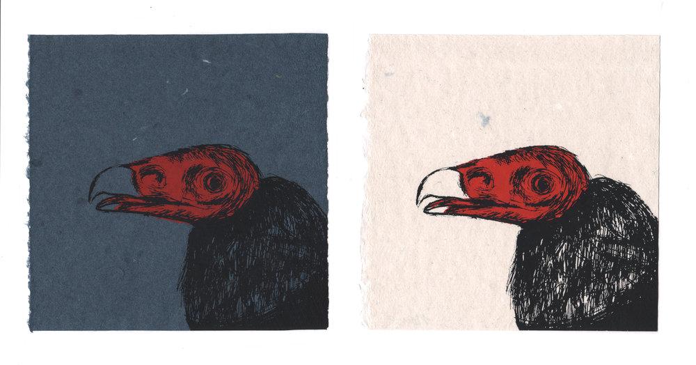 Nancy Ariza, TUVU, screenprint on handmade paper