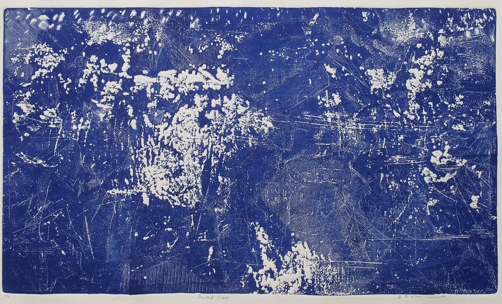 Eileen Rieman-Schaut, Crackling Ice, intaglio