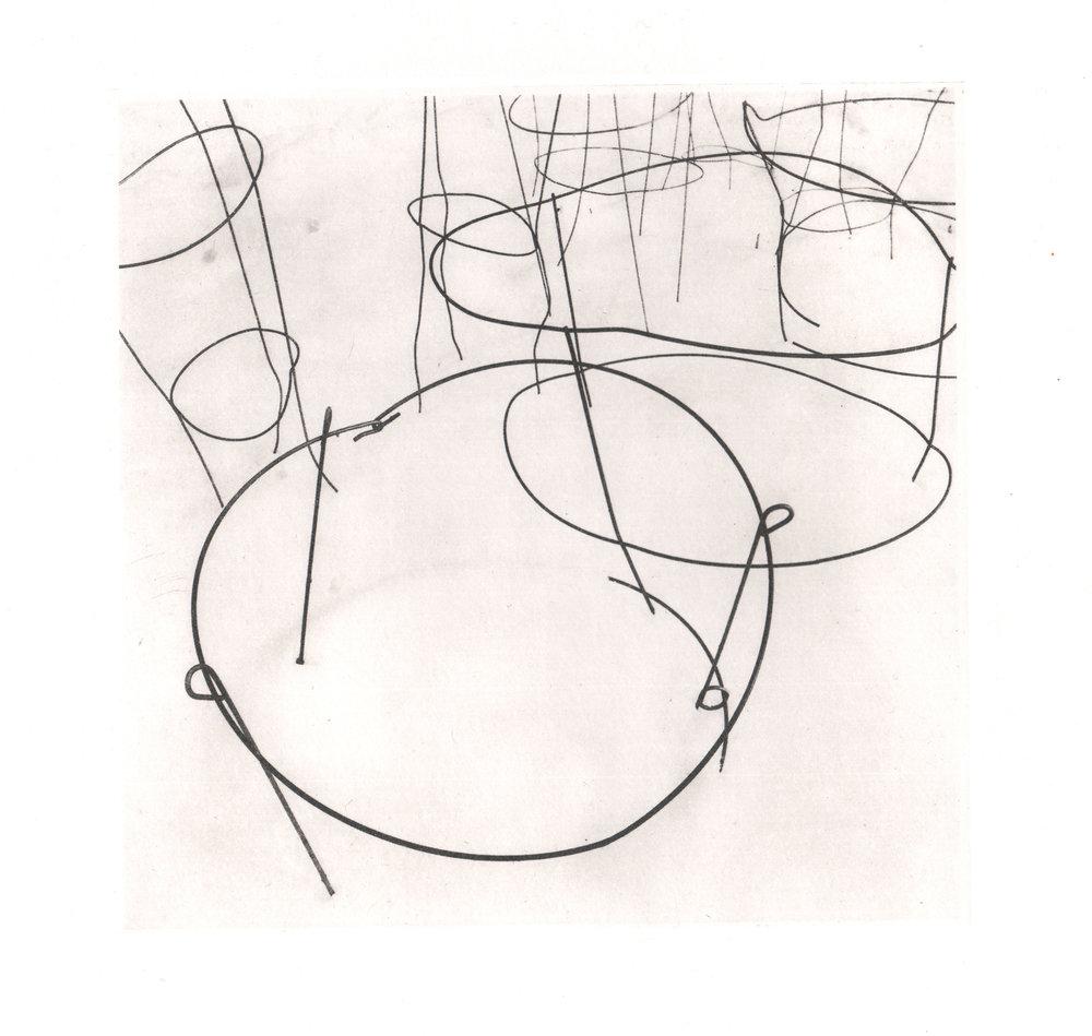 Kristin Bickal, Sleeping Peonies, polymergravure