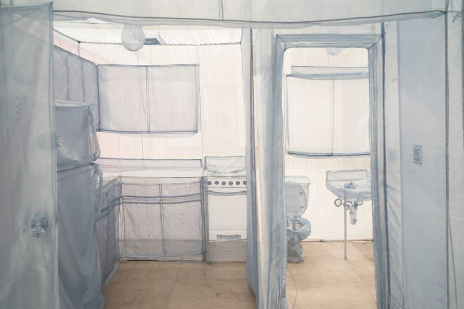 """""""The Perfect Home II,"""" 2003, Do Ho Suh (born Seoul, South Korea, 1962). Translucent nylon. Brooklyn Museum; Gift of Lawrence B. Benenson, 2017.46.  (Photo: Courtesy of the artist and Lehmann Maupin Gallery)"""
