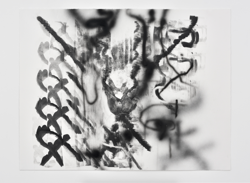 Monotype #19, 2018, Monotype with printer ink and occasional acrylic on Hahnemuhle Copperplate, 300gsm 22 x 29 inches (55.9 x 73.7 cm)