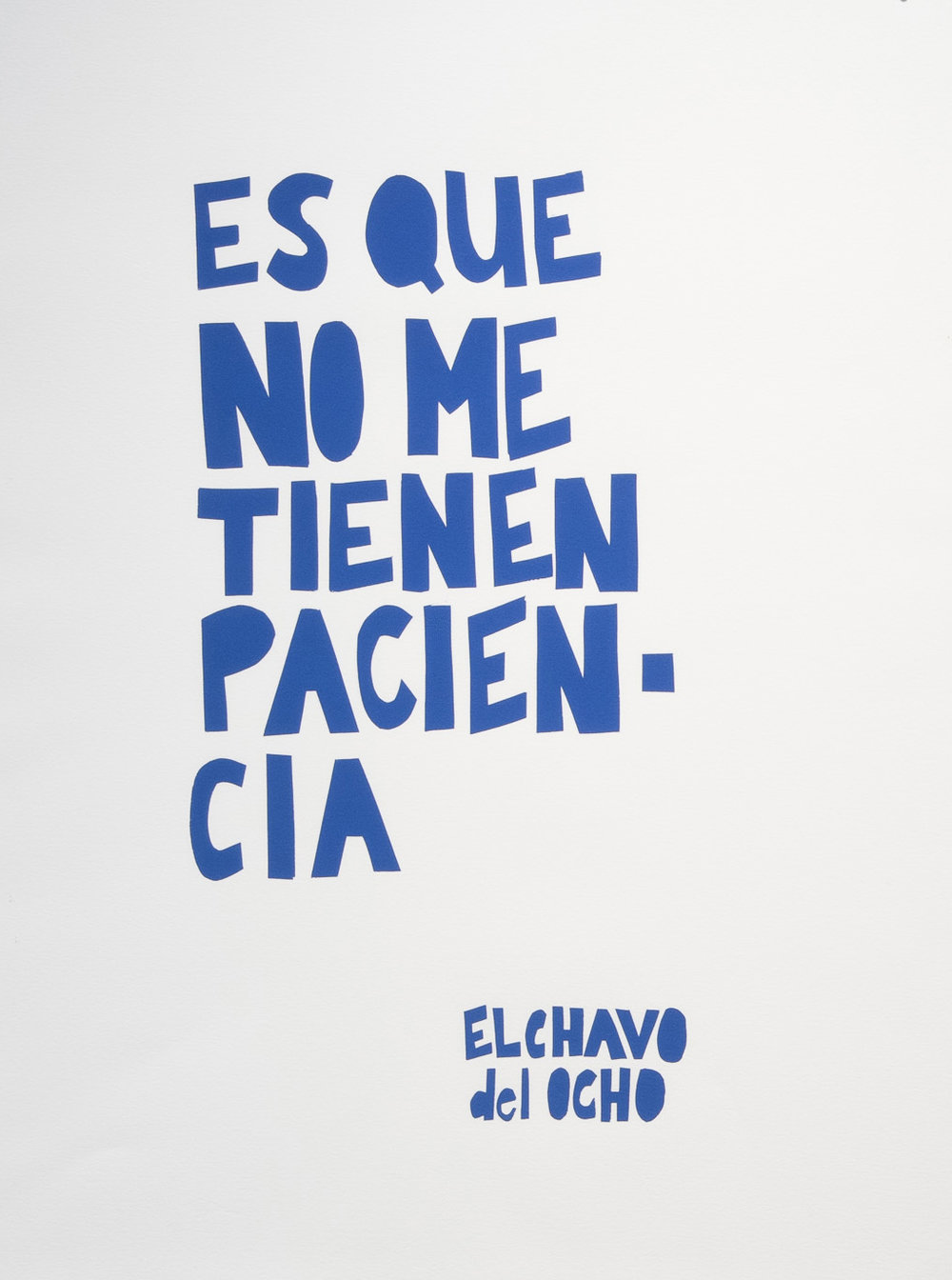 Nancy Ariza, Es Que No Me Tienen Paciencia, Screenprint