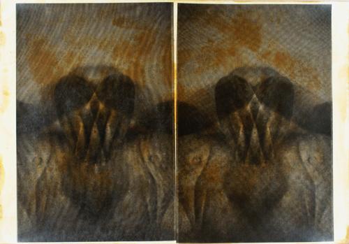 """""""Gesture XVII 3/11"""" by Linda Schwarz 2002"""