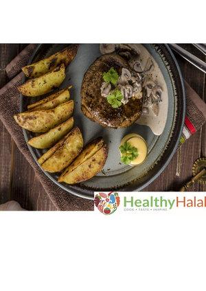Recipe boxes healthy halal online halal meat online uk next day beef steak in mushroom parmesan pepper sauce forumfinder Images