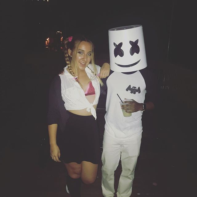 I was everyone's favorite marshmello last night at @summitphilly #chocolatemarshmello @kaylinvega
