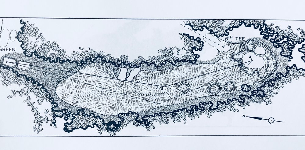 1960 rendering by George Cobb for Bobby Jones' Golf Is My Game