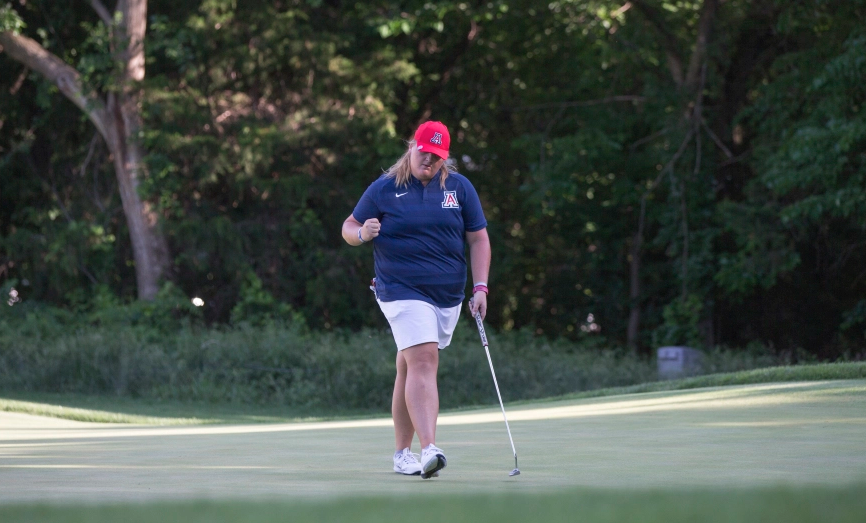 U of A's Haley Moore clinched the deciding match to win the 2018 NCAA Women's team title