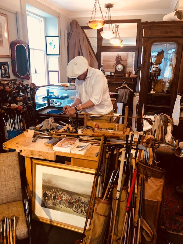 Boris Lietzow's Jack White shop in Gullane Was A must visit for several scottish open players