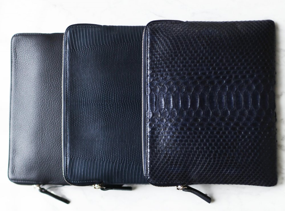 Zipped clutch -