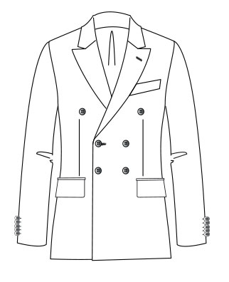 Costume Montgomery  Double boutonnage Revers cran Aiguille