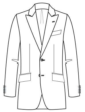 Costume Manuele  Adjusted cutting (Drop 7 Peak lapel