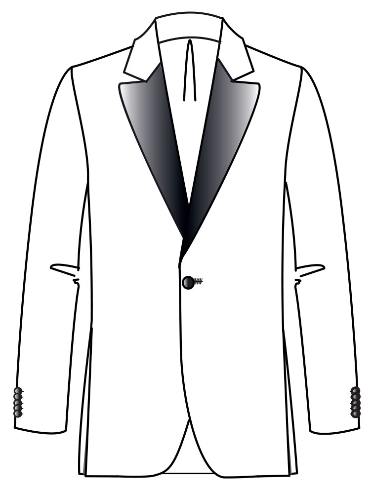Bellore Tuxedo  Inspired by the iconic jacket, 1963 Satin notched lapel