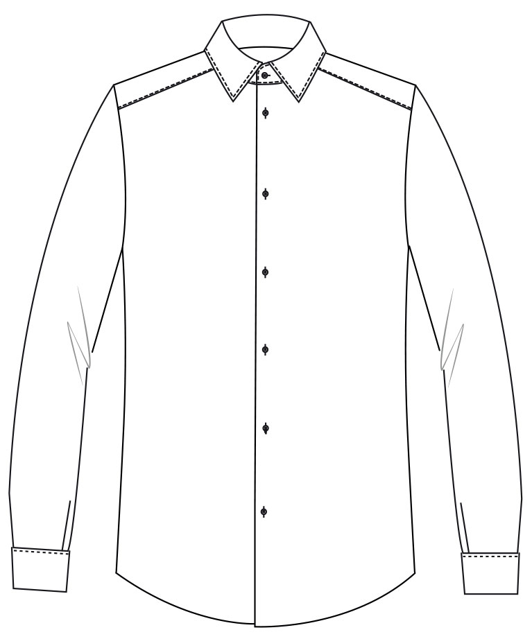 Chemise col transformable Clayton