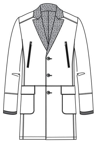 Manteau peau lainée Romero
