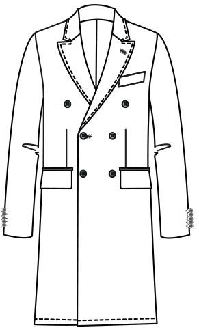 Manteau croisé Dick