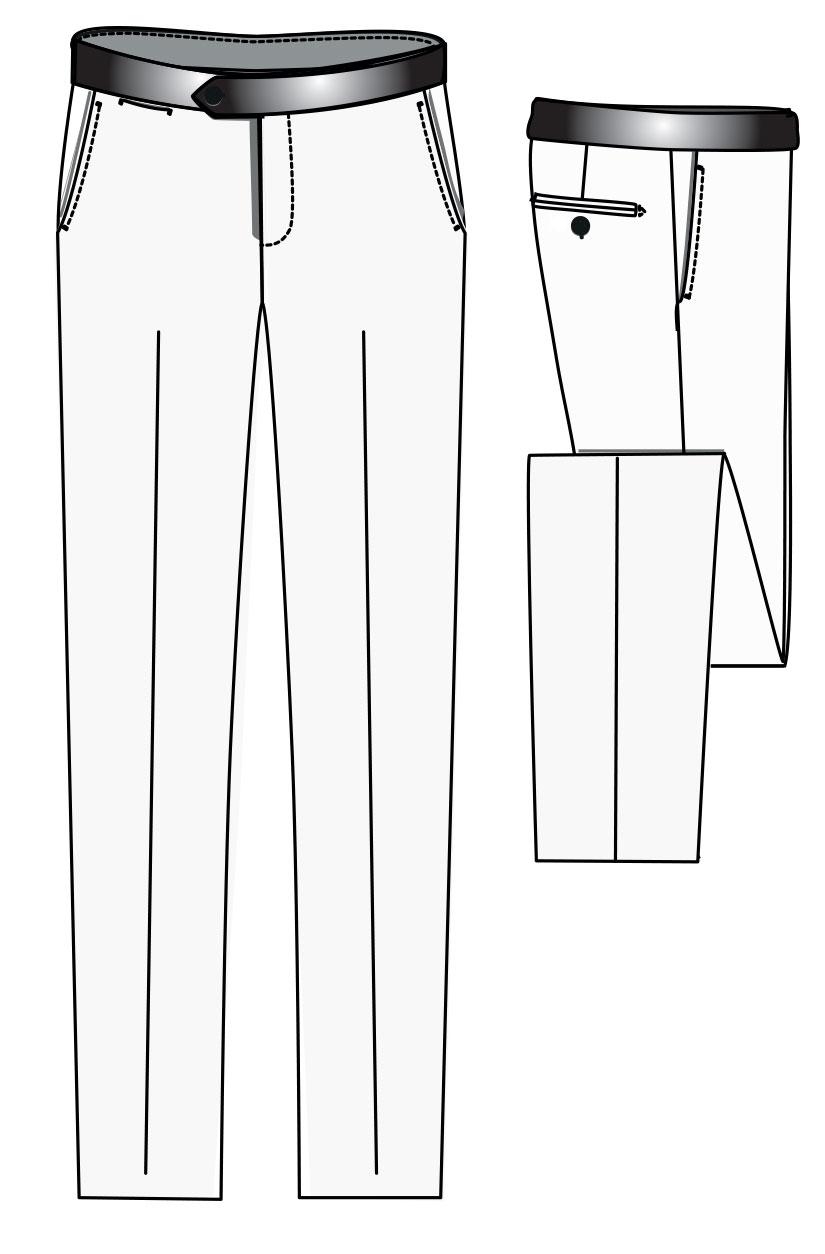 Tuxedo trouser satin belt