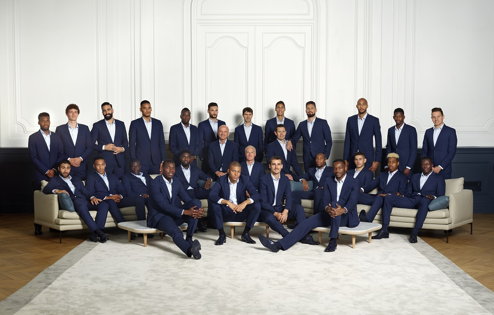 Official formal wear partner - of the French national football team