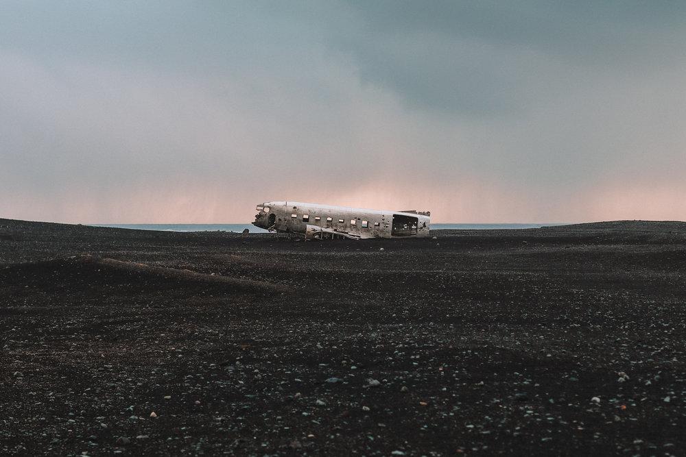 Iceland Vik plane crash moody canon