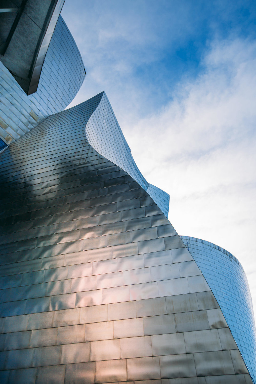 Titanium Facade of the Guggenheim in Bilbao
