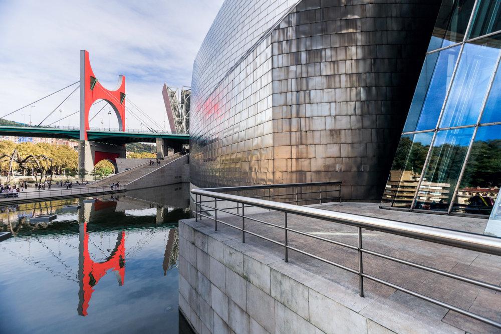 The La Salve Bridge as seen from the Guggenheim in Bilbao
