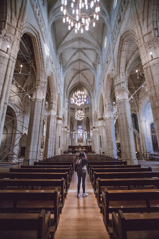 The Santa Maria Cathedral in Vitoria-Gasteiz under construction