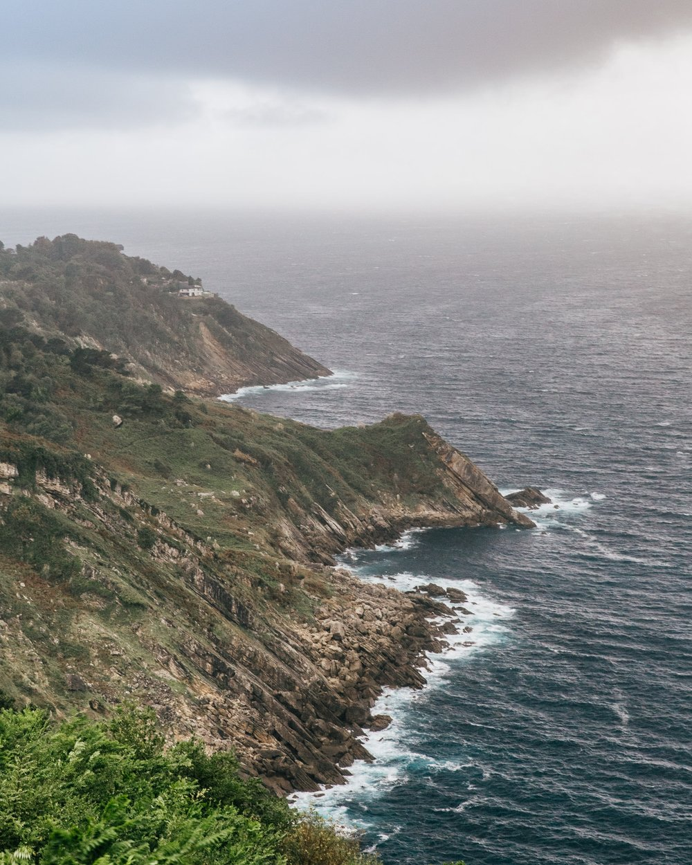 The view of the Basque Cliffs from Igueldo Mountain, San Sebastian