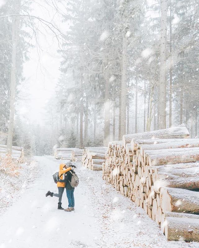 Better together 🥰 * Hey @photoammon, here's to Capturing more Wanderlust with you. I think 2019 has a lot of great things in store for us, and our little travel blog! * One of my resolutions last year was to get more photos of the two of us TOGETHER. As camera people, it's so hard. I took this on my drone though, and I think I'll use that trick more this year. Also IT FINALLY SNOWED! ❄️ . . . . .  #travelog #theglobewanderer #forahappymoment #exploringtheglobe #artofvisuals #welivetoexplore #meindeutschland #germanytrip #deutschland_greatshots #unlimitedgermany #germanytourism #germanytour #livefolk #globecouples #travelcouple #relationshipgoals #dametravellers #travelwomen #travelwithus #livefolk #adventurecouple #womenwhoexplore #whpunexpected